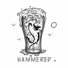 Happy Weekend Get Hammered jamiebrowneart hammered hammerhead shark…