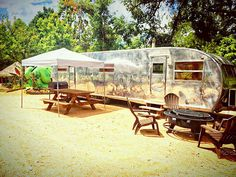 Vintage RV at Son's Island at Lake Placid. (Photo courtesy of Best Texas Travel)