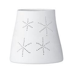 Photophore Flocon neige porcelaine Bloomingville grand modèle conique