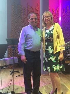 Newly elected European Baptist Federation president, Asatur Nahapetyan from Armenia, with newly elected vice president, Jenni Entrican from Great Britain, at the EBF 2015 council meeting in Sofia, Bulgaria. Photo by Tony Peck.