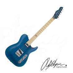 Riff City Guitar - Chapman ML-3 Traditional Guitar - Satin Blue