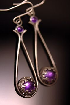 Amethyst earrings by Julie Kujawa