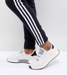 adidas Originals Deerupt Runner Sneakers In White Adidas Originals 0ff102b83a3