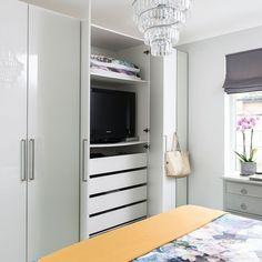 Exellent Built In Bedroom Storage Ideas Ways To Disguise Your Tv Hide A Tv Cabinet Tv Wall Mount intended for ucwords] Bedroom Built In Wardrobe, Bedroom Closet Design, Tv In Bedroom, Wardrobe Closet, Bedroom Storage, Bedroom Decor, Tv Storage, Storage Ideas, Tv Diy