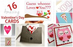 ROOM FOR SOME LOVE!! 16 AMAZING HANDMADE CARDS FOR VALENTINES!