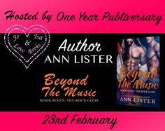 One Year Publiversary Beyond The Music The Rock Gods: Book 7 by Bestselling Author Ann Lister  The final story in The Rock Gods series celebrates one year since publishing. But it was also the launch of a new M/M spin-off series Guarding the Gods.  Beyond The Music (The Rock Gods #7) by Ann Lister  BOOK LINKS  Read FREE with KindleUnlimited  UK http://amzn.to/2fEU7IX  Universal http://ift.tt/1WWUVGF  BLURB  Lincoln Stallworth bass player for Black Ice has quietly watched each of his band…