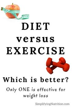Diet Versus Exercise for Weight Loss