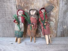 Catspaw Primitives by a Prairie Girl: Clothespin Dolls are Done!