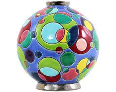 """Collection """"Bubbles"""" boule pm, M.Bergmann pour Emaux de Longwy"""