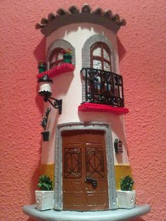 Ideas que mejoran tu vida Village Houses, Fairy Houses, Biscuit, Clay Houses, Roof Tiles, Little Houses, Clay Creations, Polymer Clay, Diy And Crafts