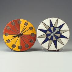 Anonymous; Glazed Stoneware and Enameled Metal 'Meridian' Wall Clock by Howard Miller Clock Company, 1960s.