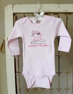 MUST HAVE THIS.  Embroidered DJ Girl Onesie Personalized by babymo on Etsy. $20.00, via Etsy.