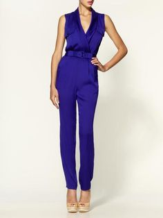 Edith Shawl Collar Jumpsuit - Lyst