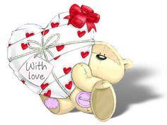 "Fizzy Moon ~ ""With Love Valentine"" Tatty Teddy, Colorful Drawings, Cute Drawings, Moon Gif, Fizzy Moon, Moon Bear, Blue Nose Friends, Cute Animal Illustration, Cute Teddy Bears"