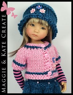 """* Blue & Pink * Outfit for Little Darlings Effner 13"""" by Maggie & Kate Create"""
