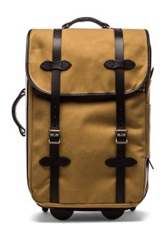 Filson Wheeled Carry-On in Tan