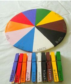 Colour Wheel (Teaching kids colors) DO THIS! Teach how to make the colours activities Color Wheel (Teaching kids colors) Montessori Toddler, Toddler Learning Activities, Games For Toddlers, Montessori Activities, Infant Activities, Fun Learning, Color Activities, Montessori Education, Maria Montessori