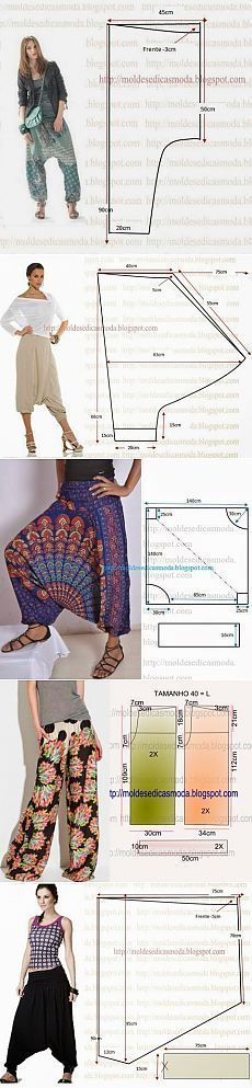 Широкие штанишки на лето - подборка выкроек | Варварушка-Рукодельница