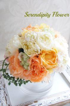 Serendipity Flower(セレンディピティフラワー)  ビタミンカラーの芍薬のブーケ*アーティフィシャルフラワー