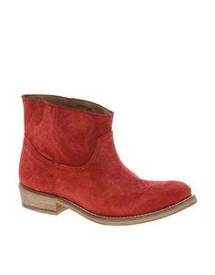 Bronx short suede western boots