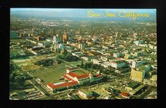 Downtown San Jose before the library was built.  Lots of different events at the Civic Center including the circus.