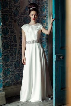 Charlotte Balbier's Decade of Style & 2015 Iscoyd Park Collection | weddingsonline Modest Wedding Gowns, Wedding Dresses 2014, Bridal Dresses, Wedding Attire, Charlotte Balbier, Gorgeous Wedding Dress, Beautiful Bride, Bridal Boutique, Bridal Collection