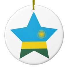 Shop Rwanda Star Ceramic Ornament created by FlagCenter. Rwanda Flag, Flag Country, Political Events, National Flag, Flag Design, Flags, Family Photos, Banner, Ceramics