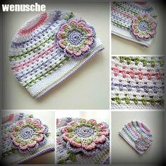 Crochet Baby Hat Patterns, Crochet Kids Hats, Crochet Beanie Hat, Crochet Baby Clothes, Newborn Crochet, Knit Or Crochet, Crochet Toys, Crochet Stitches, Crochet Winter