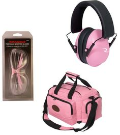 womens shooting eye protection | Winchester Women's Pink Shooter's Kit With Glasses, Range Bag and Ear ...