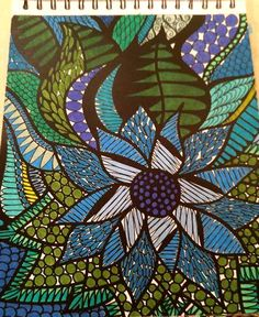 ColorIt Colorful Flowers Volume 1 Colorist: Jamie Snider #adultcoloring #coloringforadults #adultcoloringpages #flowers