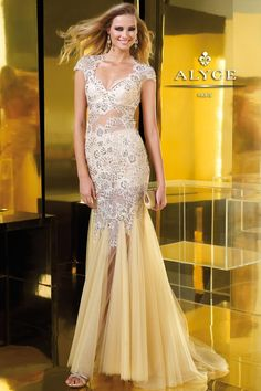 ALYCE - Tulle & Beaded Lace
