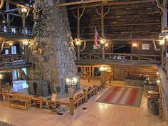 Lobby of Old Faithfull Inn Yellowstone