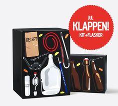 Julklappen! Ett IPAHHH!-kit och ett KLONK-paket (10 st. bruna flaskor som passar perfekt till din he...