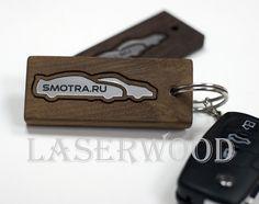 Laserwood: Брелок из дерева для smotra.ru