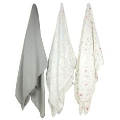 3 Pack Bamboo Muslin - For the Birds