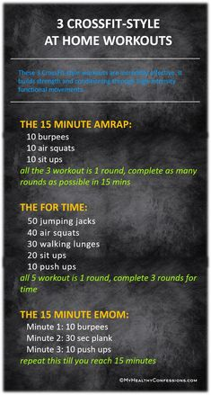 WORKOUTS: AMRAP, FOR TIME AND EMOM I am part of Crossfit since last couple of months. So I can totally brag about how incredibly effective it is. It is the hardest and best damn workout ever do. A crazy person like Fitness Workouts, Amrap Workout, Fitness Humor, Fitness Motivation, Monday Workout, Cardio Workouts, Outdoor Workouts, Fitness For Men, Box Jump Workout