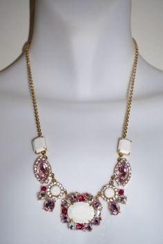 $49.95 Kate Spade Garden Bed Gems Small Multi Colored Necklace Kate Spade New York #KateSpade #Bib