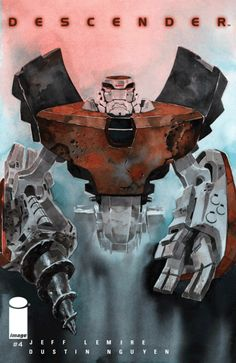 """Descender #4, By Jeff Lemire, Dustin Nguyen and Steve Wands  """"Yes, Tim-21, as I said, you do realize that this 'dream' could not be real?"""" """"I realize that Dr. Qu...,  #All-Comic #Comics #DanLeicht #deeliopunk #Descender #Descender#4 #descender#4review #DustinNguyen #Image #imagecomicreviews #ImageComics #JeffLemire #SteveWands See More: http://all-comic.com/2015/descender-4/"""