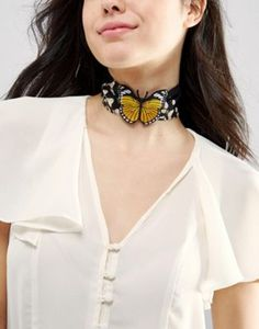 ASOS | ASOS Butterfly Choker Necklace