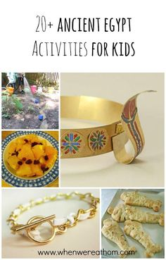 20+ Ancient Egypt Activities for Kids!  Lots of fun food, crafts and activities to help you learn more about Egypt.