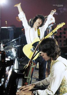 The Rolling Stones, Mick Jagger & Keith Richards, Montreux 1972, by Dominic Lamblin