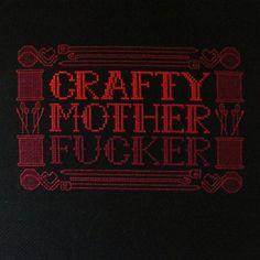 MATURE Crafty Mother F Cross Stitch by hardcorestitchcorps, $5.00