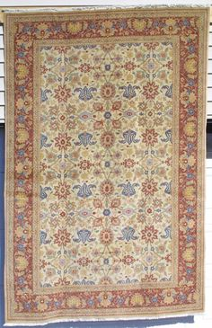 """Persian Tabriz Rug, Tabriz Vegetable dyed Rug, N.W. Persia, Hand knotted wool, 6'1"""" x 9'3"""""""
