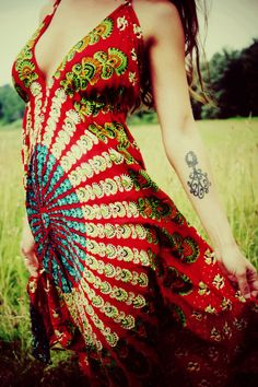 Handmade Hippie Dress, NEW LENGTH, Mini Dress, Backless Dress, Festival, Bohemian, Hula Hoop Dress, Peacock Dress, Festival, Mandala