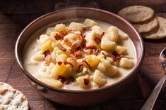A classic potato and corn chowder recipe.