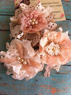 Ivory Peach Linen & Lace Burlap/ MADE TO by DolledandDazzled
