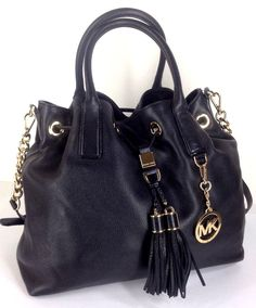 3e2ec4bae84e  279 Michael Kors Large Camden Drawstring Satchel Bag Black Leather Orig  398 New  MichaelKors