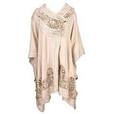 Edwardian Ivory Colored Wool Cloak