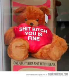 Why not get your girl this for Valentine's Day? Bitches love bears!