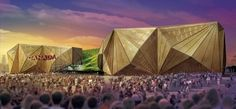 Acrobats Design Canada Pavilion with Rainwater Harvesting, Green Walls